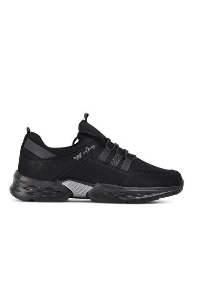 Erkek Siyah Füme Montreal Spor Ayakkabı