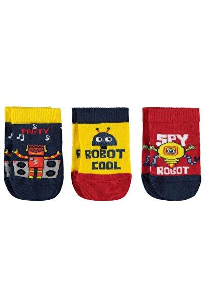 Erkek Bebek 3'lü Çorap Set
