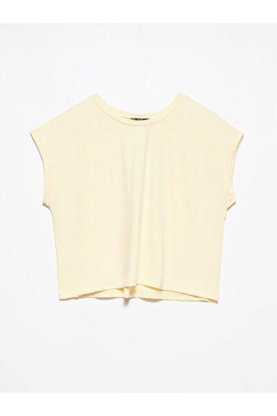 Kadın Sarı T Kol T-shirt