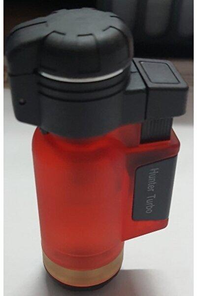Mat Kırmızı Turbo Tek Pürmüz Alev Pro Çakmağı