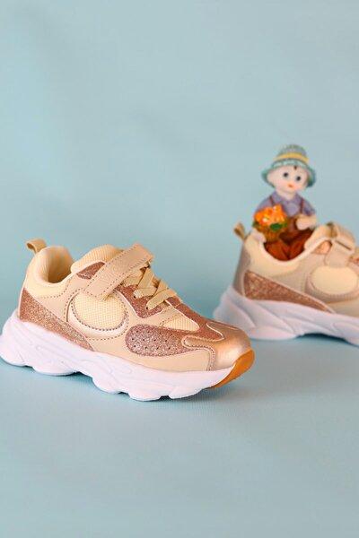 Kız Çocuk Gold Spor Ayakkabı