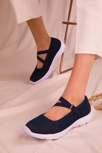 Kadın Lacivert Ortopedik  Sneaker Byndsrv02