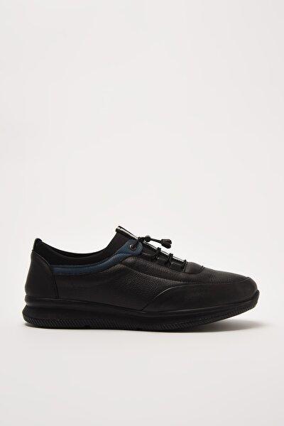 Hakiki Deri Siyah Erkek Sneaker 02AYH210860A100