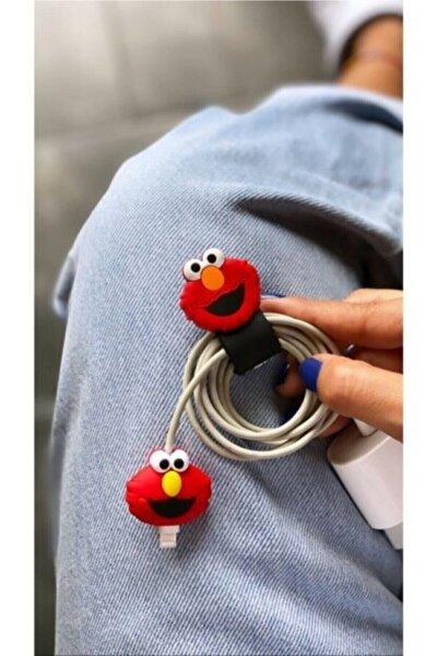 Kablo Toparlayıcı Ve Koruyucu Sevimli Elmo 2'li Set