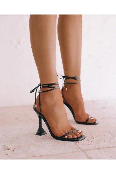 Topuklu Sandalet Siyah