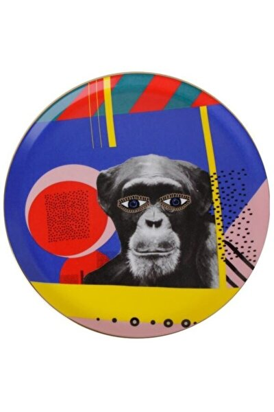 Wild Life Monkey Düz Tabak 28 cm