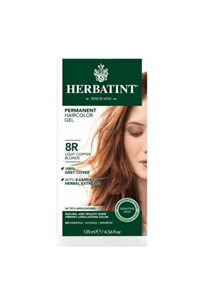 Kalıcı Bitkisel Saç Bakım Boyası 8R Light Copper Blonde 150 ml Bakır Açık Sarı 150 ml 8016744500227