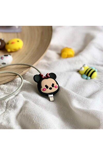Sevimli Mickey Mouse Kurdeleli Kablo Koruyucu