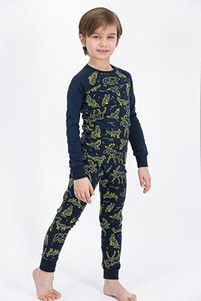 Rolypoly Animals Skeleton Lacivert Erkek Çocuk Pijama Takımı