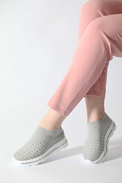 Kadın Taş Detay Triko Spor Ayakkabı