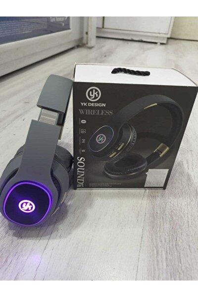 Siyah Led Işıklı Bluetooth Kulaklık