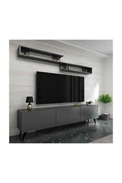 Ideal Tv Ünitesi X2032 Antrasit Renk 150 cm