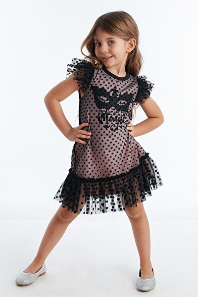 Believe Magic Tüllü Pembe Kız Elbise