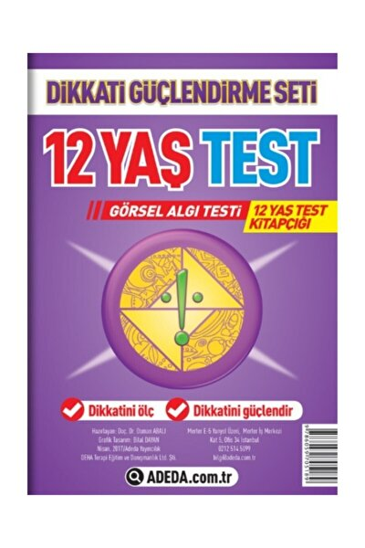 12 Yaş Test Görsel Algı Seti / 12 Yaş Test Kitapçığı - Osman Abalı