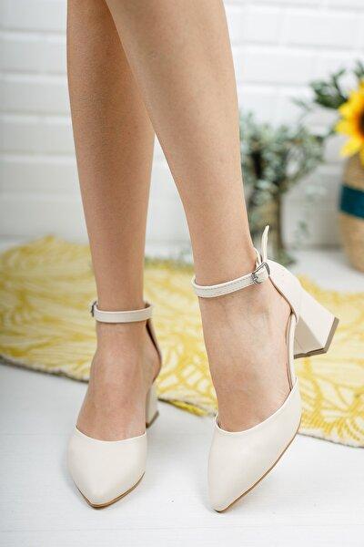 Kadın Ten Klasik Topuklu Ayakkabı