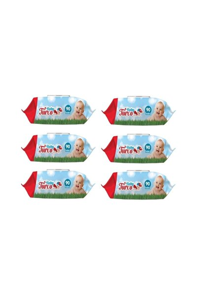 Islak Havlu Mendil Klasik 90 Yaprak 6 Paket Plastik Kapaklı