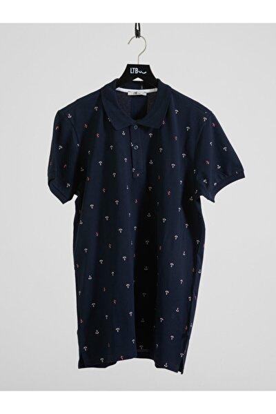 Erkek  Lacivert Polo Yaka T-Shirt 012208435060890000