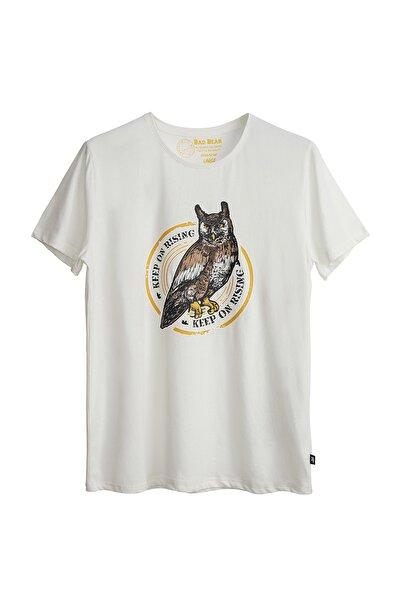 Erkek Beyaz Rising Tee Tshirt 21.01.07.044-c04