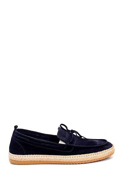 Erkek Lacivert Süet Loafer Ayakkabı