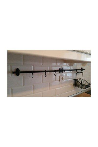Siyah Metal Mutfak,banyo Askısı,çok Amaçlı Askı Ferforje Metal Askı Fintorp Model Vip Ahmet Ürünü