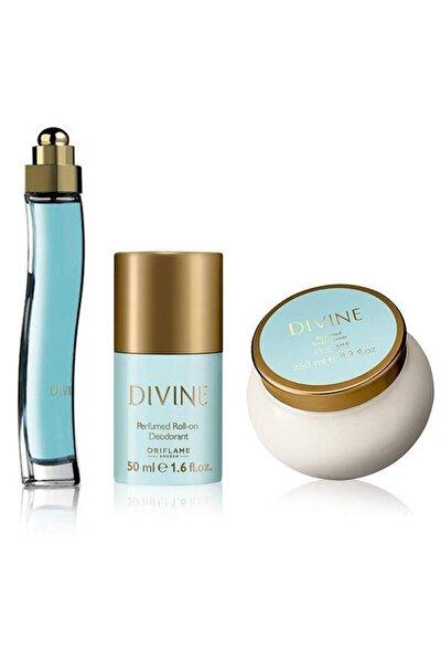 Divine Edt 50 ml + Deodorant + Divine Vücut Kremi Kadın Parfüm Seti 5262645956165