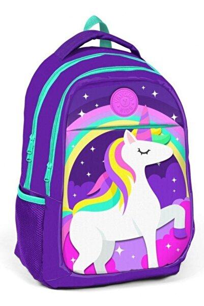 Kız Çocuk Mor Unicorn Okul Çantası