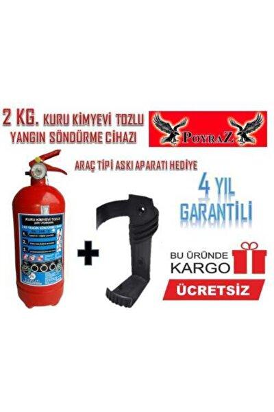 Yangın Sondurme Tüpü Söndürücü Tupu 2kg Arac Tüpü 4yıl Garantıli Tüv-türk Muayeneye Uyumlu