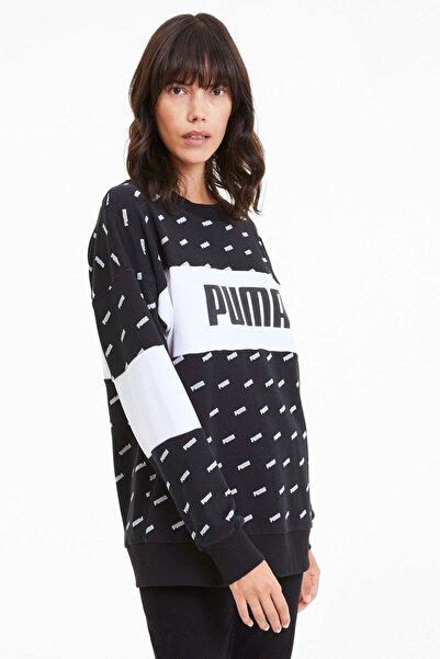 Kadın Sudadera Crew Aop Logo Sweatshirt