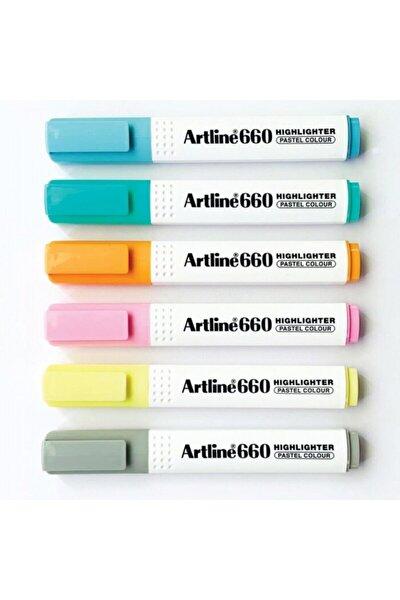 660 Fosforlu Kalem Pastel Serisi 6 Renk Set