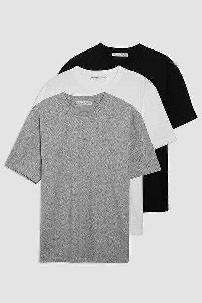 Cultivated Erkek Siyah Beyaz Grimelanj T-shirt Set
