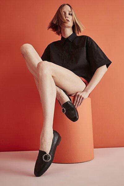 Siyah Kadın Loafer Ayakkabı 01AYY204550A100