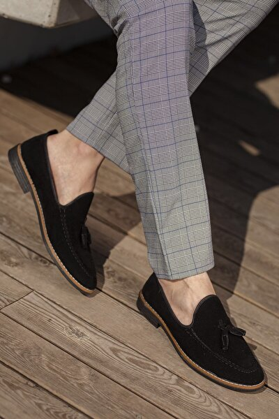 Erkek Loafer Süet Püsküllü Babet Ayakkabı
