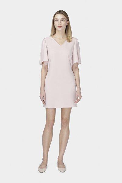 Kadın Pembe Rahat Kesim Elbise