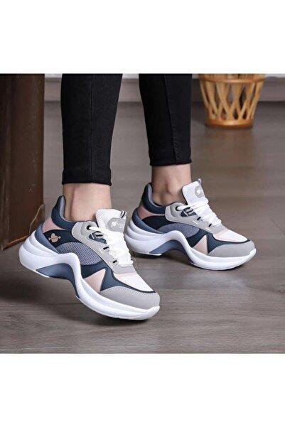 Kadın Pudra Turkuaz  Sneaker Ayakkabı