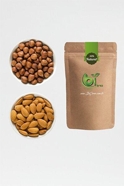 Premium Çig Badem 1kg + Çiğ Fındık 1kg