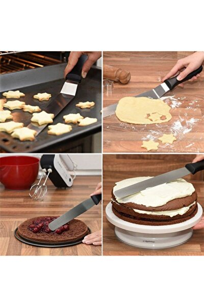 Oval Uçlu Eğik Pasta Sıvama Spatulası 20 Cm