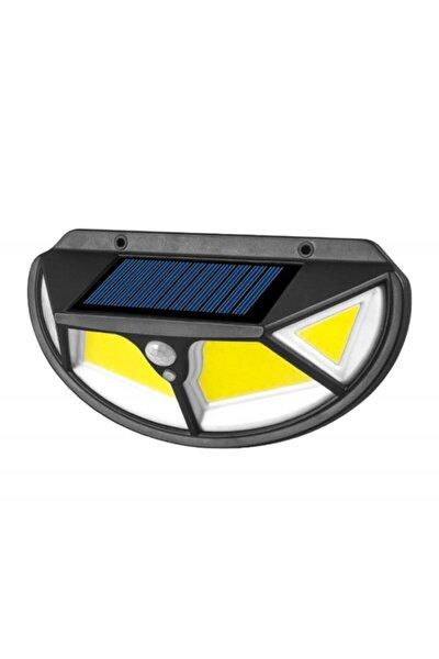 122 Cob Led Yeni Teknoloji Güneş Enerjili Hareket Sensörlü 4 Taraflı Bahçe Aydınlatması Beyaz Işık