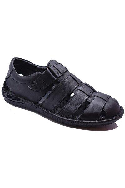 033 Günlük Hakiki Deri Erkek Sandalet Ayakkabı