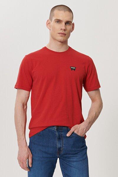 Erkek Kırmızı Regular Fit Bisiklet Yaka T-shirt