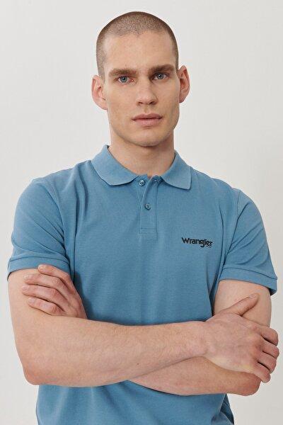 Erkek Mavi Regular Fit Polo Yaka T-Shirt