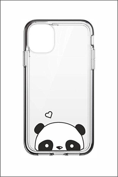 Özelhediyem Iphone 11 Panda Desenli Silikon Telefon Kılıfı