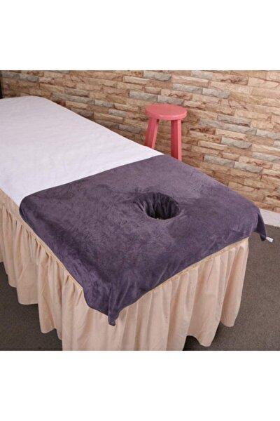 3 Adet Masaj Yatağı Örtüsü Baş Havlusu 50 X 100 Cm Gri