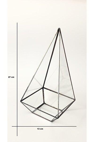 Dekoratif Cam Fanus Yükseklik / Teraryum Cam Fanus / Geometrik Cam Fanus
