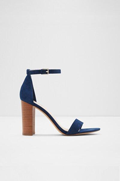Kadın Lacivert Topuklu Sandalet Jerecly