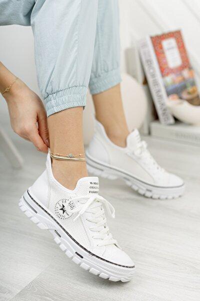 Kadın Beyaz Yeni Sezon Günlük Sneaker
