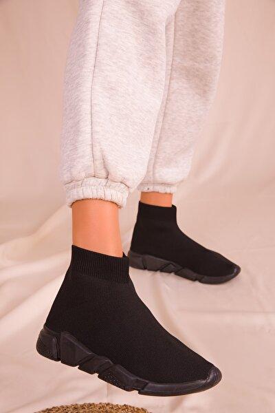 Siyah-Siyah Kadın Sneaker 16085