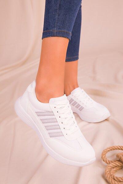 Beyaz Kadın Sneaker 14552