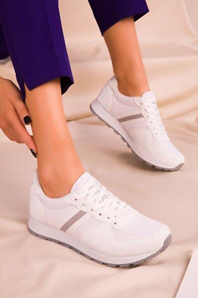 Beyaz Kadın Sneaker 15277