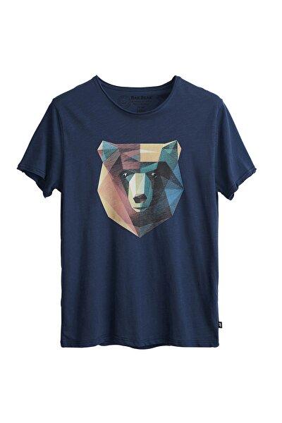 Erkek Çivit Mavi Tişört Polygon Bear Tee