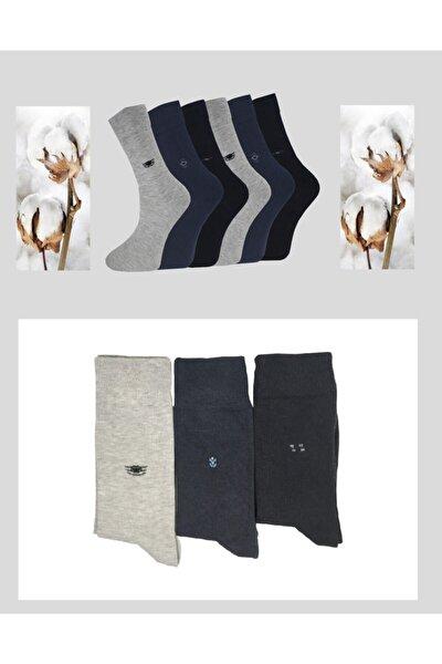 5'li Paket Pamuk Dikişsiz Erkek Soket Çorap